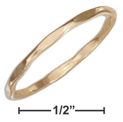12 Karat Gold Filled Faceted Wire Band Ring | Jewelry Store
