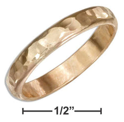 12 Karat Gold Filled 3mm Hammered Wedding Band Ring | Jewelry Store