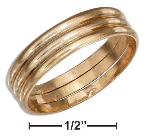 12 Karat Gold Filled Triple Band Wedding Band Ring | Jewelry Store