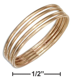 12 Karat Gold Filled Four Band Ring | Jewelry Store