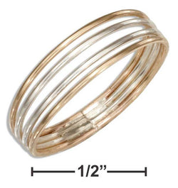 Sterling Silver And 12 Karat Gold Filled Four Band Ring | Jewelry Store