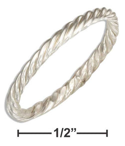 Sterling Silver Wire Rope Band Ring | Jewelry Store