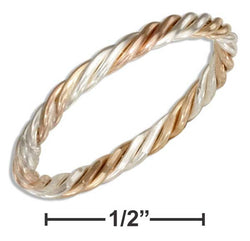 Sterling Silver And 12 Karat Gold Filled Wire Rope Band Ring | Jewelry Store