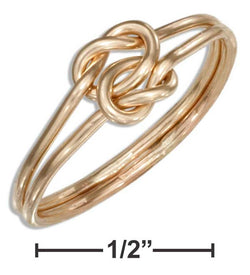 12 Karat Gold Filled Medium Gauge Double Love Knot Ring | Jewelry Store