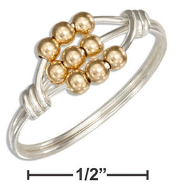 Sterling Silver Wire Wrap Ring With 12 Karat Gold Filled Scattered Beads | Jewelry Store