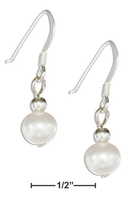 Sterling Silver White Fresh Water Cultured Pearl Earrings On French Wires | Jewelry Store