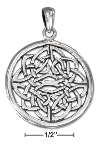 Sterling Silver Round Filigree Celtic Knot Pendant | Jewelry Store