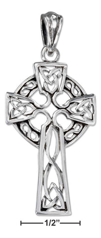 Sterling Silver Antiqued Filigree Celtic Cross Pendant | Jewelry Store