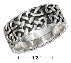Sterling Silver Mens Antiqued Celtic Band Ring | Jewelry Store