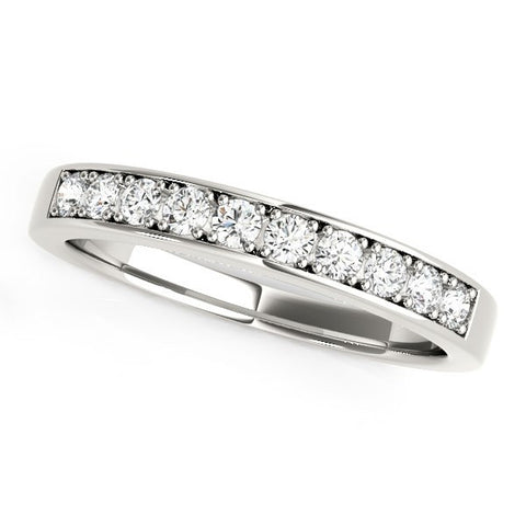 14K White Gold Classic Diamond Wedding Band (1/4 ct. tw.)