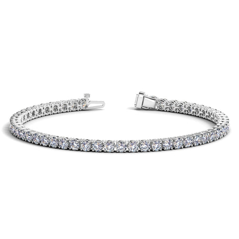 14K White Gold Round Diamond Tennis Bracelet (6 ct. tw.)
