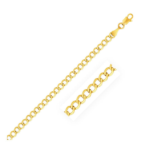 4.4mm 10K Yellow Gold Curb Chain