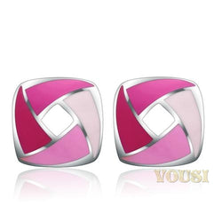 Womens High Polish Epoxy Earrings EA0T-06113