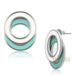 Womens High Polish Multi Color Epoxy Earrings EA0T-06813