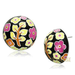 Womens High Polish Multi Color Epoxy Earrings EA0T-06814