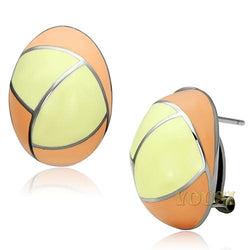 Womens High Polish Multi Color Epoxy Earrings EA0T-06819