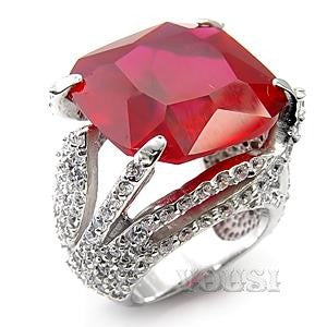 womens rhodium plating ruby cubic zirconia ring ri07 04158 worlds