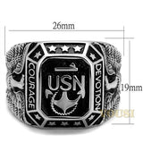 Mens High Polish Black Epoxy Ring RI0T-08281, Jewelry - Worlds Largest Jewelry Store