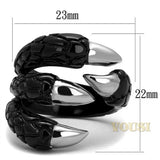 Womens IP Two Tone ( Black & Silver) Ring RI0T-08363