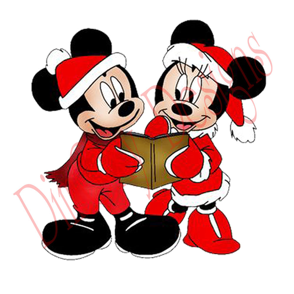 Disney Christmas Pictures.Disney Mickey And Minnie With Christmas Book Christmas And Holiday Window Static Cling