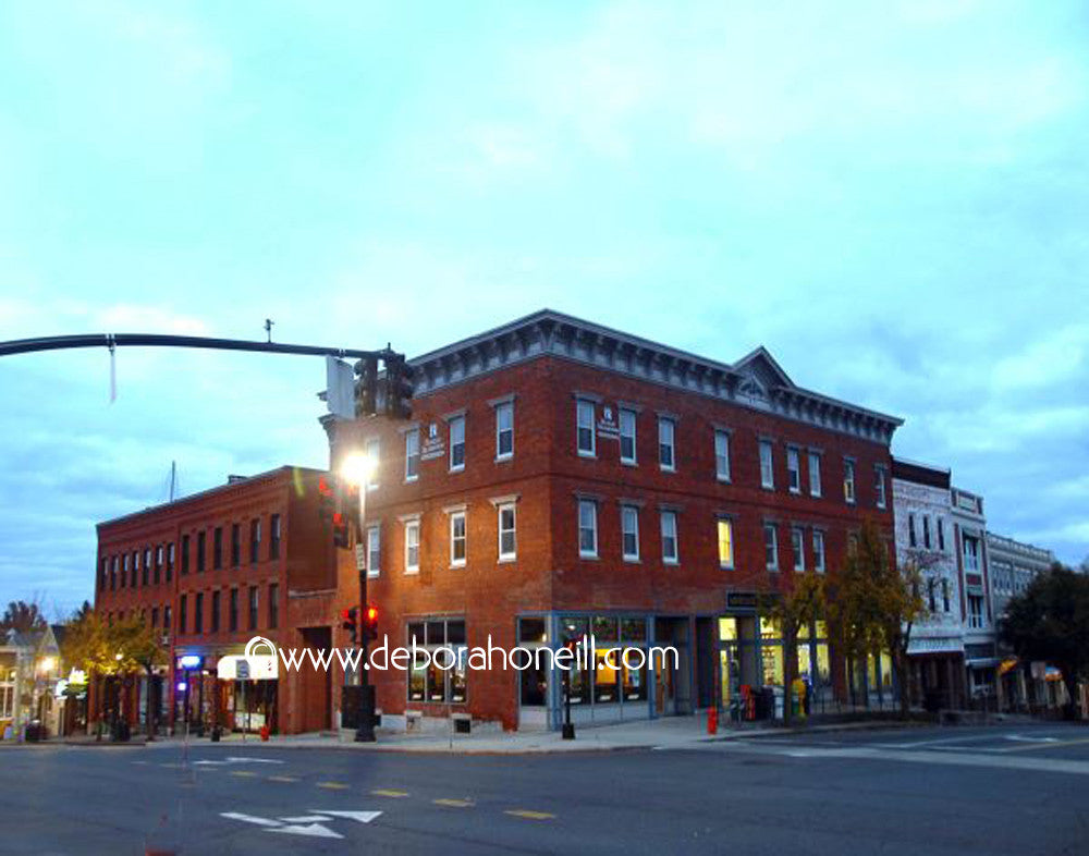 Northampton MA Area, Amherst Center,16x20 print