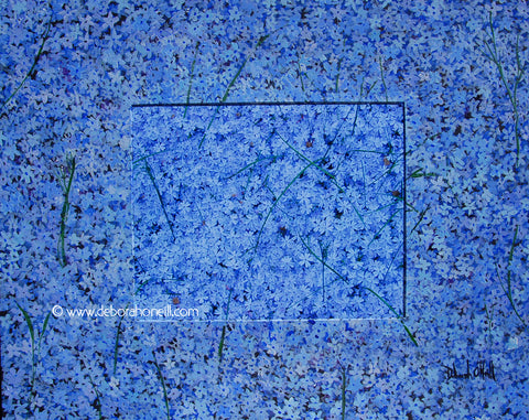 Photo Painting Print, Blue Creeping Phlox, 16x20 PRINT