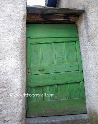 Door, Bright Green Switzerland, 16x20 print