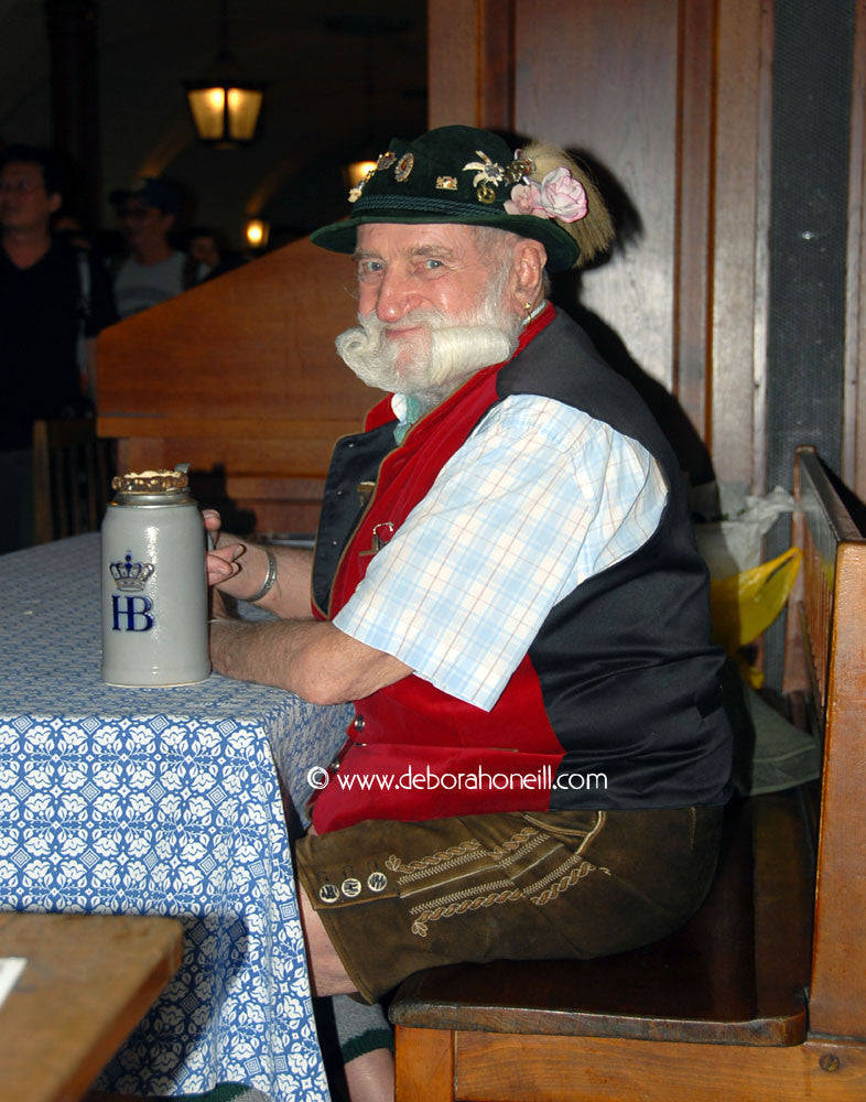 Germany, Lederhosen Man, Munich, Germany, 16x20 print