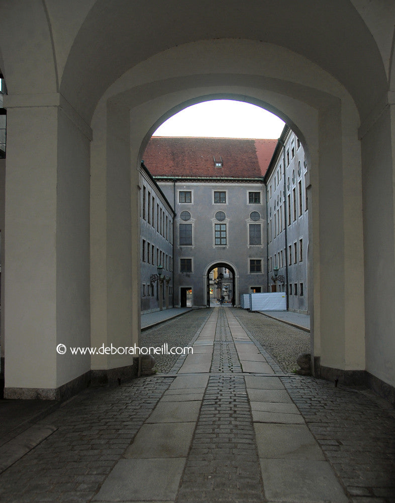Germany, Historic Walkway, Munich, 16x20 print