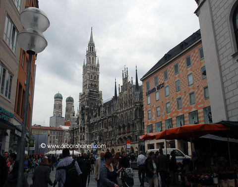 Germany, Glimpse of the Glockenspiel, Munich, 16x20 print
