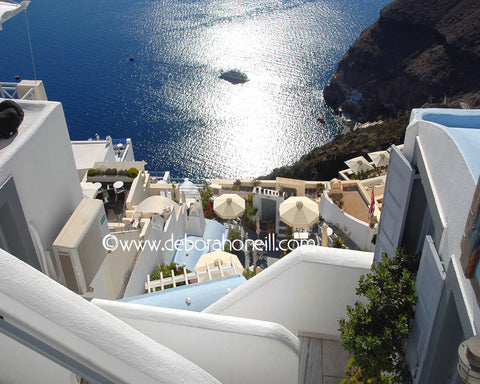 Greece Down To The Santorini Sea, 16x20 print