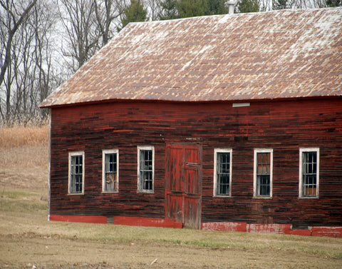 BARN, Old Red, Hadley, MA, 16x20 print