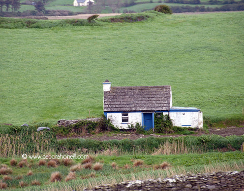 Ireland, Blue & White Hut, near Galway, 16x20 print