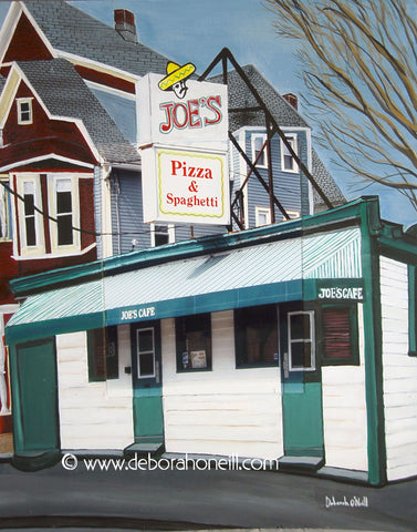 Joe's Café, Northampton, MA, THE OUTSIDE, 16x20 Photo Painting Print