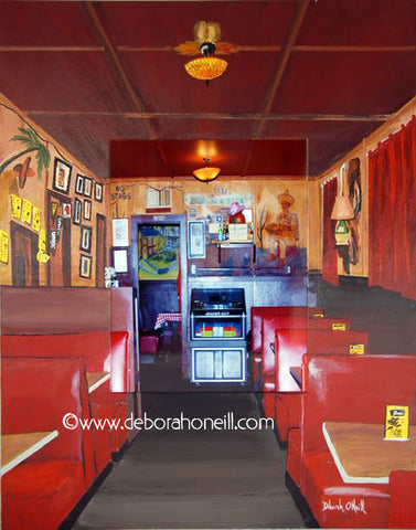 Joe's Café, Northampton, MA, THE BOOTH SIDE, 16x20 Photo Painting Print