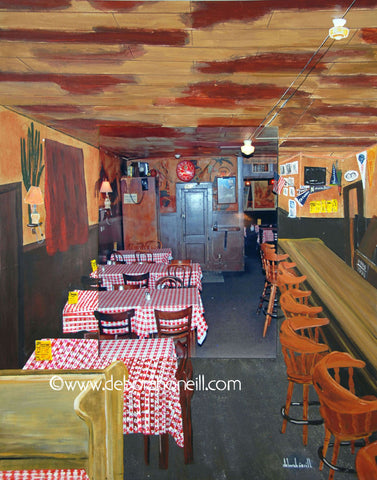 Joe's Café, Northampton, MA, THE BAR SIDE, 16x20 Photo Painting Print