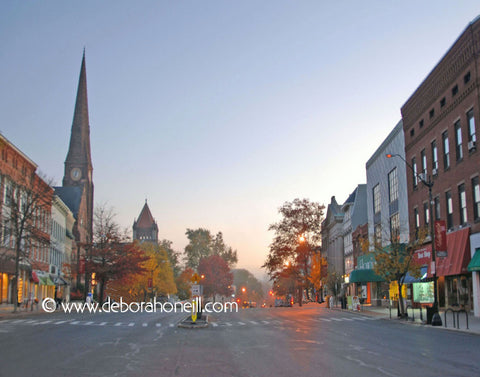 Northampton MA, Downtown Dawn,16x20 print