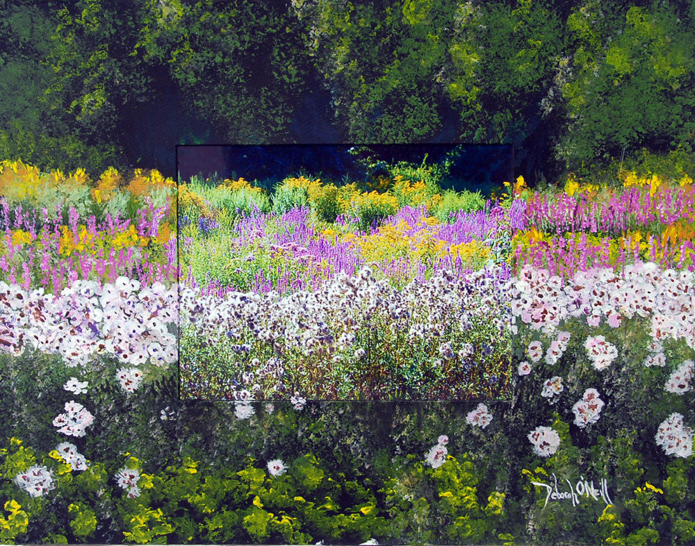 Photo Painting Print, Rt. 66 Flowers, 16x20