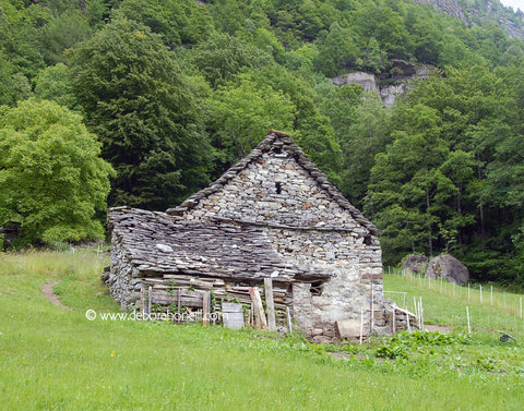 Switzerland, Stone Hut, Brunni, 16x20 print