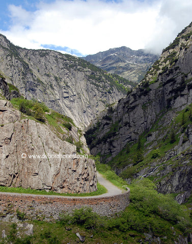 Switzerland, Gotthard Pass Curve, 16x20 print