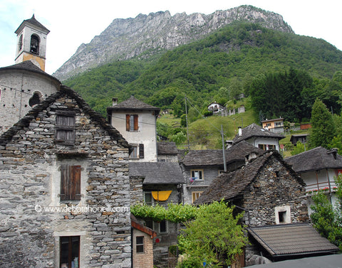 Switzerland, Stone Village, Brunni, 16x20 print