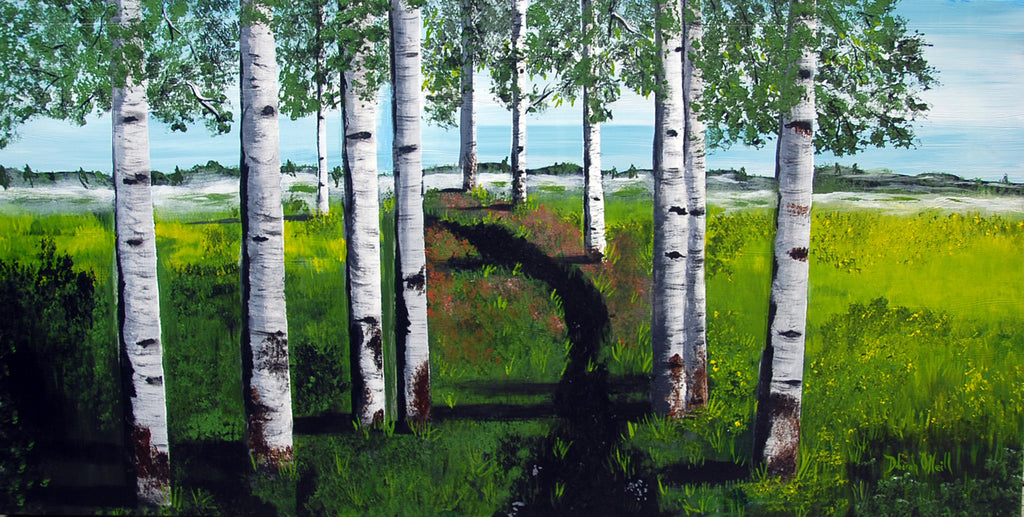 Painting Print, The Birches, On Canvas, 48x36
