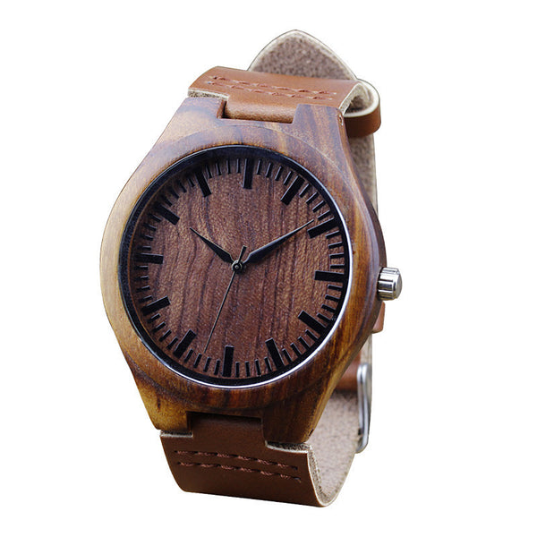 Mahogany Colored Men's Bamboo Watch