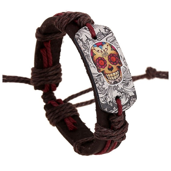 New - Women's or Girls  Hippie Style 60's Retro Leather Handcrafted Bracelet