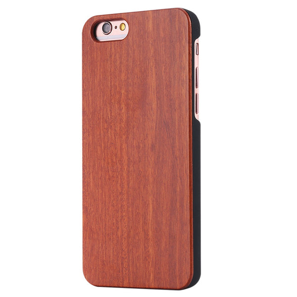 Retro Natural Wood Case for iPhone 7 7 Plus 6 6s 5 5s se Bamboo Pattern PU Protector