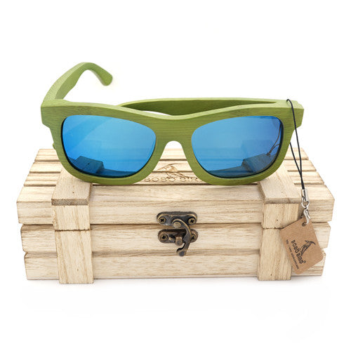 2017 Summer Style Bamboo Wooden Sunglasses Uni-Sex Polarized UV 400 Eyewear in Box