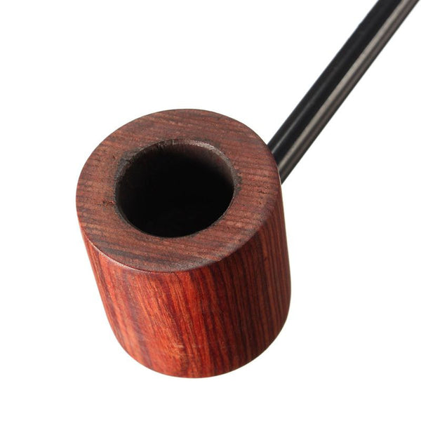 Skinny Boy Ebony Wood Smoking Pipe 2 Colors Black/Coffee 2