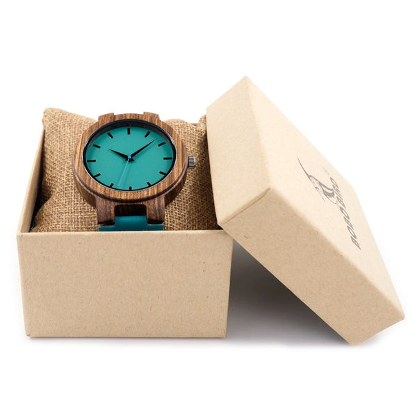 High Quality Bamboo Wood Watch For Men And Women Quartz Analog Casual Watch With Gift Box