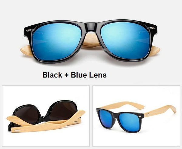 Women's Ultra-Hip Bamboo Wood Sunglasses - Lots of Vibrant Colors