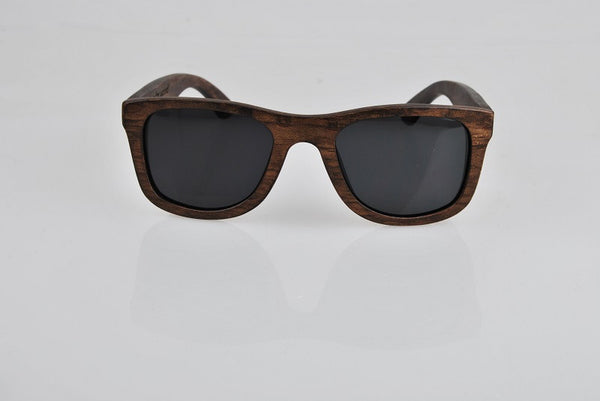 UniSex Hand-Crafted Darkened Bamboo Wood Polarized Sunglasses